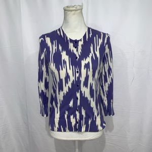 J crew tie dye button down cardigan sweater
